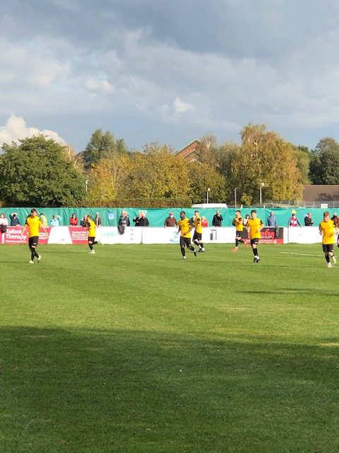 Picture of footballers playing at Poole Town FC